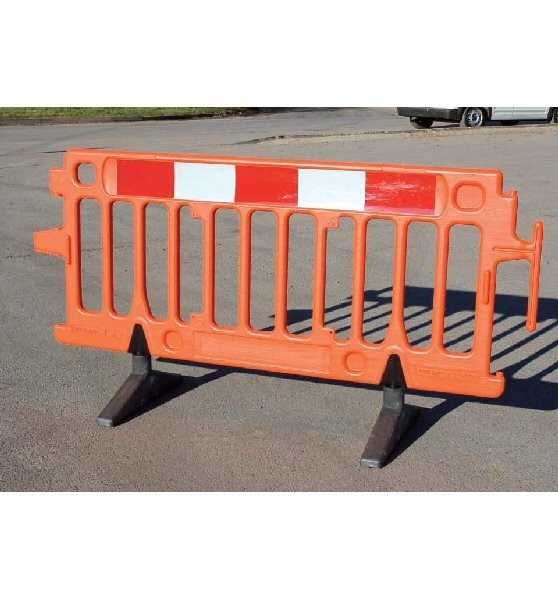 Avalon Pedestrian Utility Construction Safety Plastic Barrier - Orange 2m