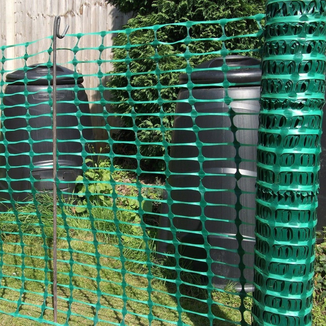 Green Barrier Fencing Plastic Mesh Fence 50m Rolls