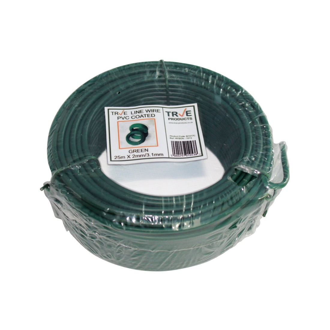 Galvanised Line Straining Tension Wire - Green PVC Coated