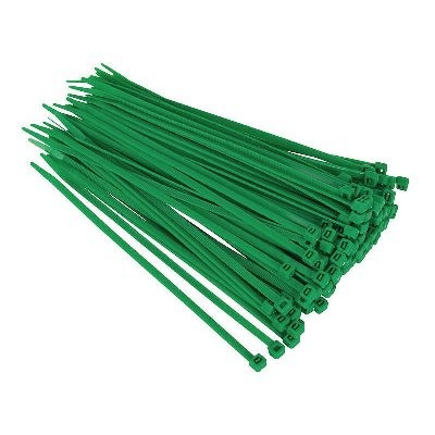 Green Cable Ties - Pack of 100