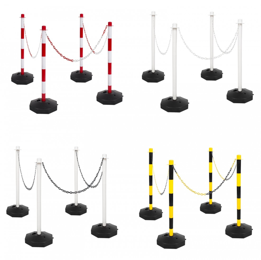 Plastic Support Posts for Plastic Barrier Chain 4 Post Kit