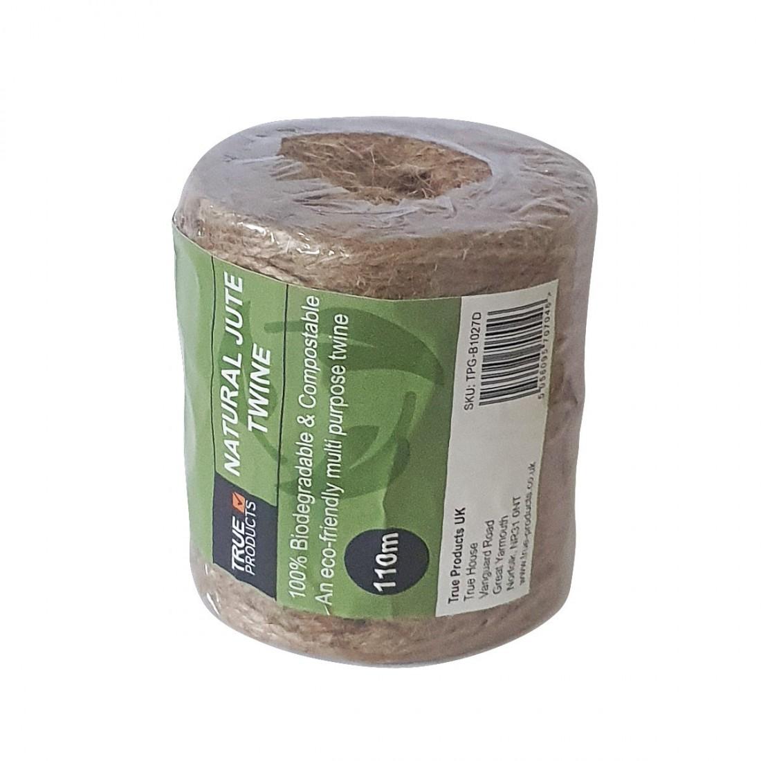 True Products Biodegradable Jute Garden Twine - 100m