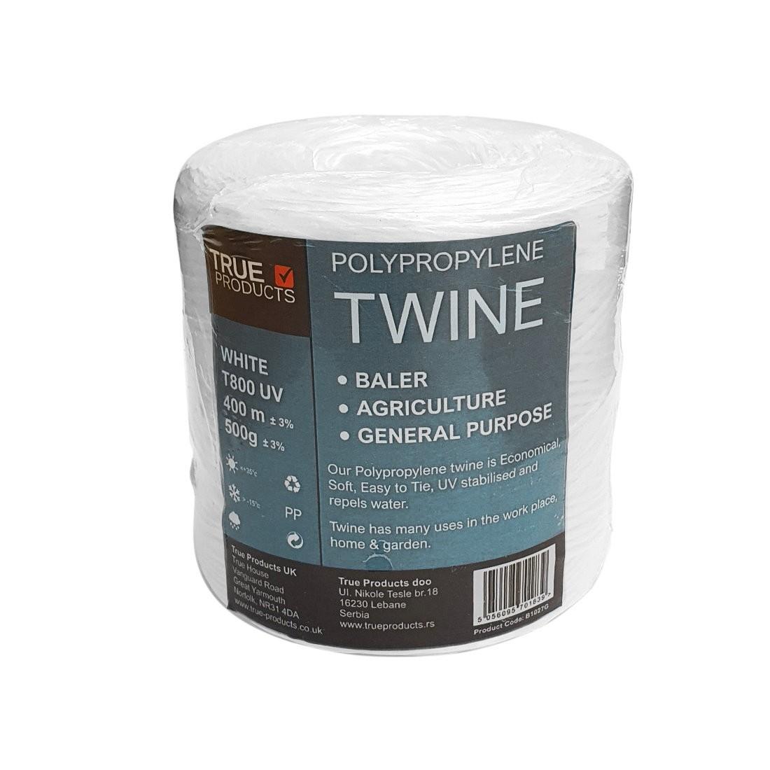 White Polypropylene Baling Twine T-800