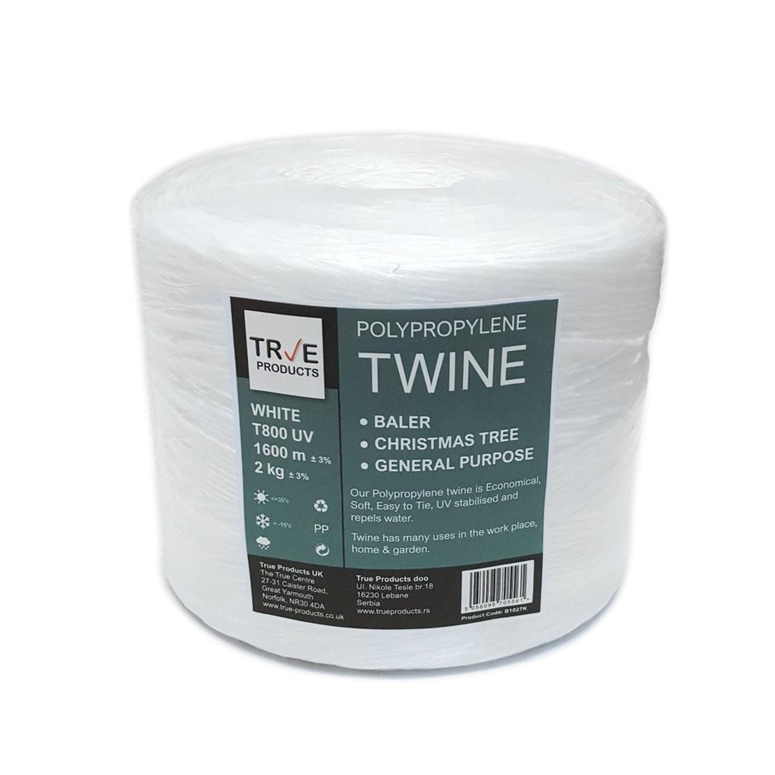 White Polypropylene Baler Twine 2kg 1600m