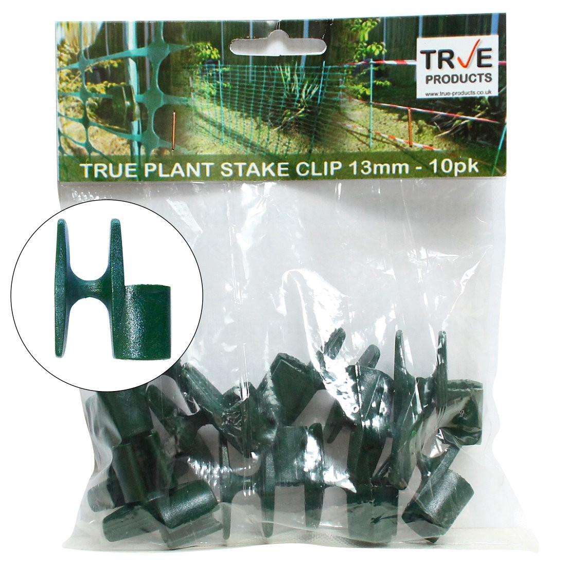 True Plant Stake Clips Green for True 13mm Plant Stakes