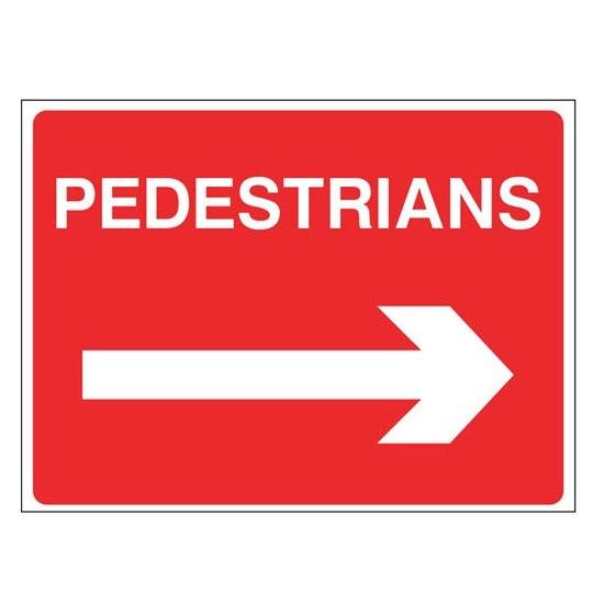PEDESTRIANS RIGHT  Warning Sign