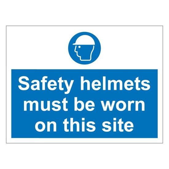 SAFETY HELMETS Warning Sign