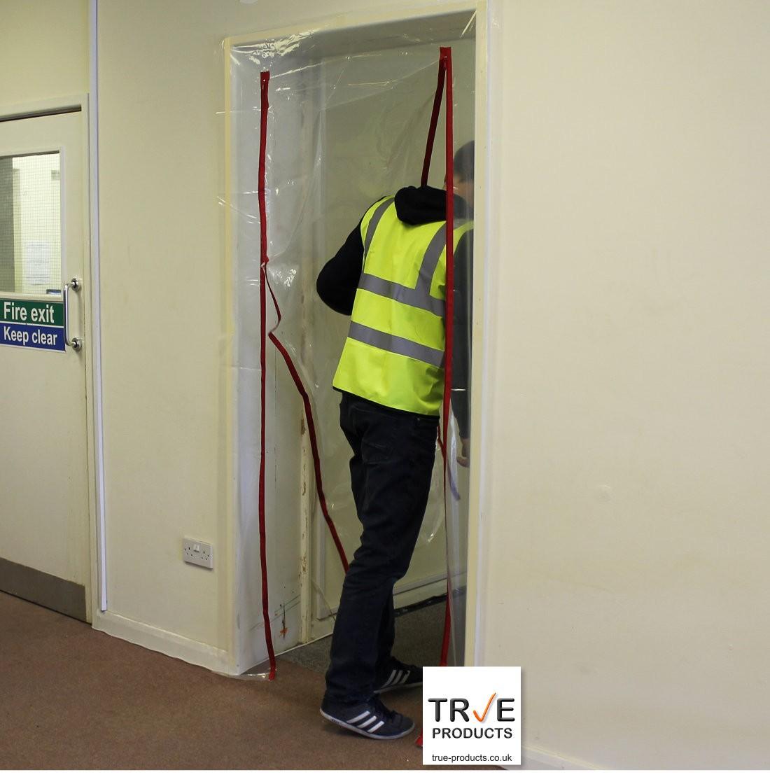 Temporary Construction Doors : Zip door kit dust prevention