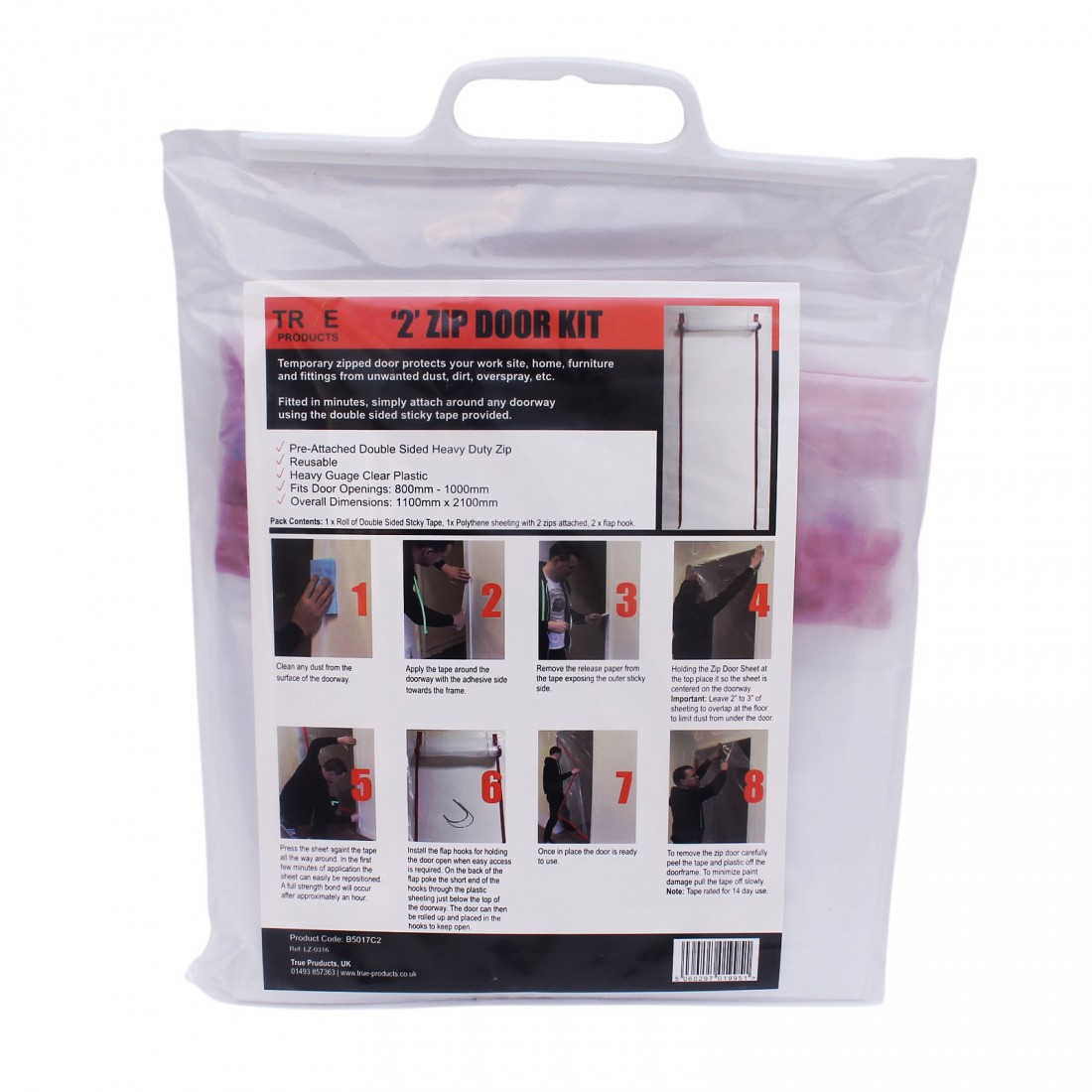 2 Zip Door Kit Dust Prevention Door