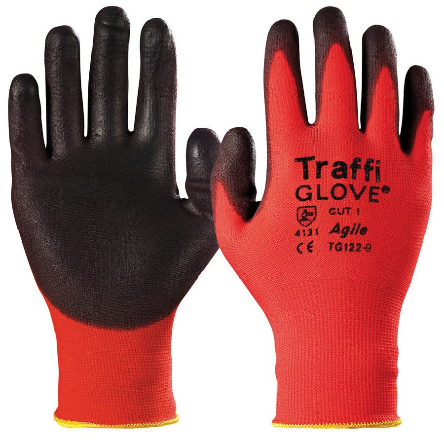 Traffiglove Agile - Red Lightweight Gloves