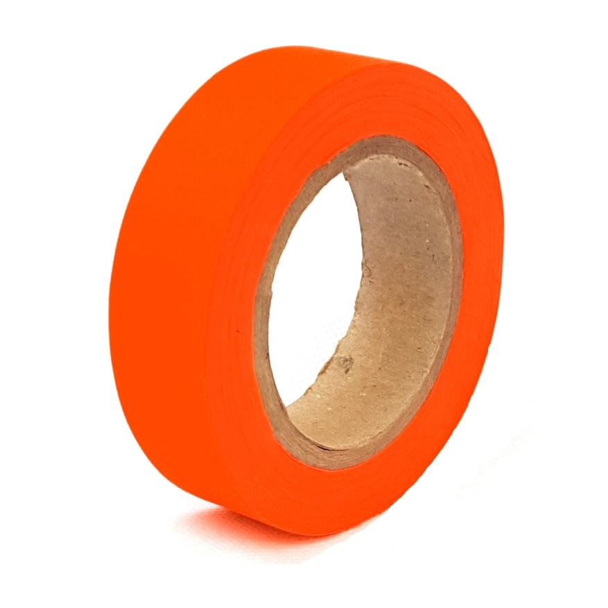 Orange Hi-Vis Traffic Cone Barrier Tape