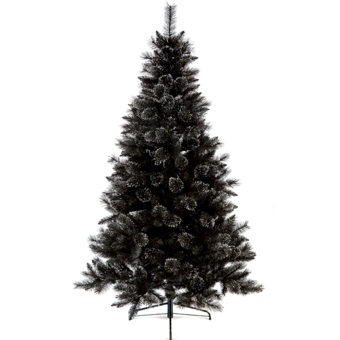 Black Glitter Artificial Christmas Tree 1.8m