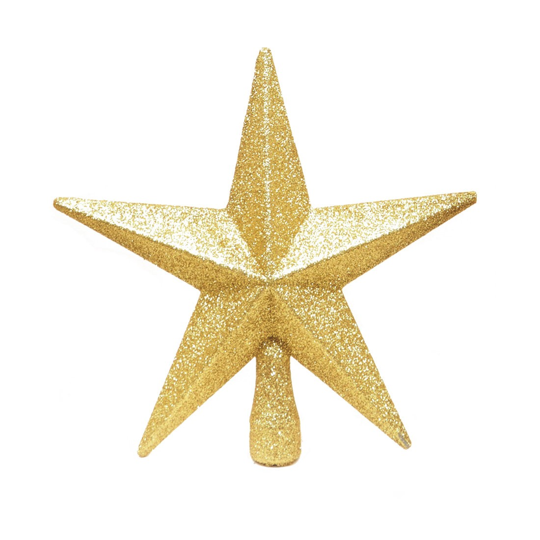 Gold Christmas Tree Topper Glitter Star
