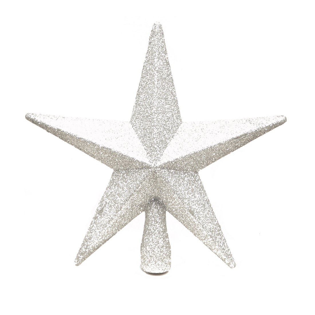 Silver Christmas Tree Topper Glitter Star