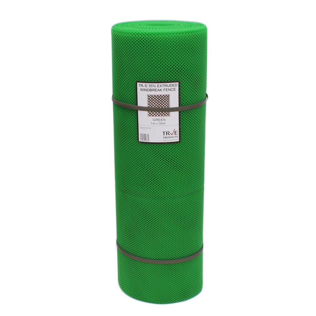 55% Windbreak Extruded Medium Mesh - 30m Roll - 1m High - Green