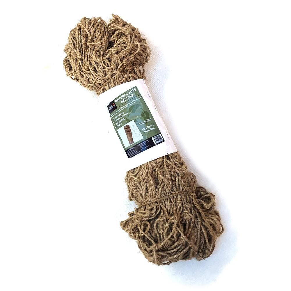 Biodegradable Heavy Duty Pea & Bean Jute Netting 1mx5m-50mm
