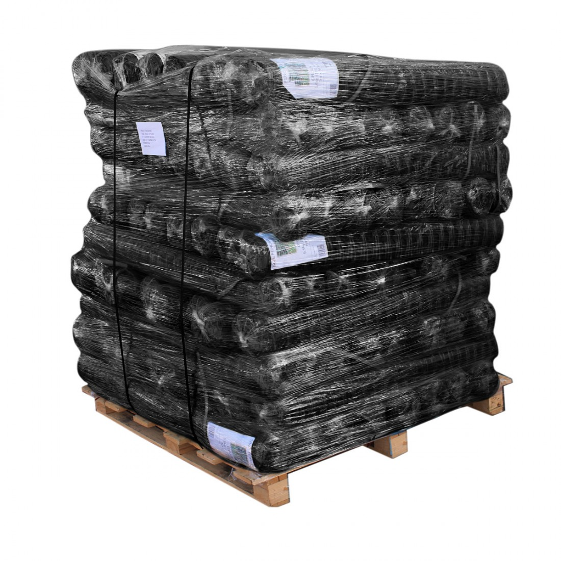 Pallet of Black Barrier Mesh Fence