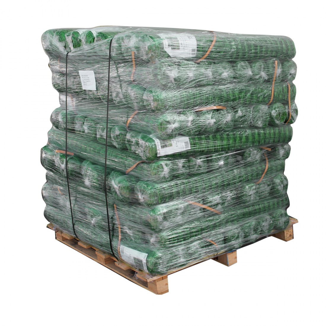 Pallet of Green Barrier Fence