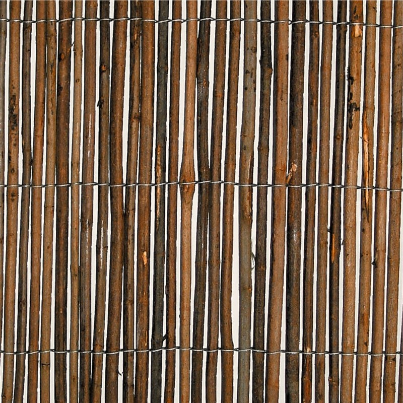 Willow Natural Wood Garden Fence Privacy Screening 4m Long