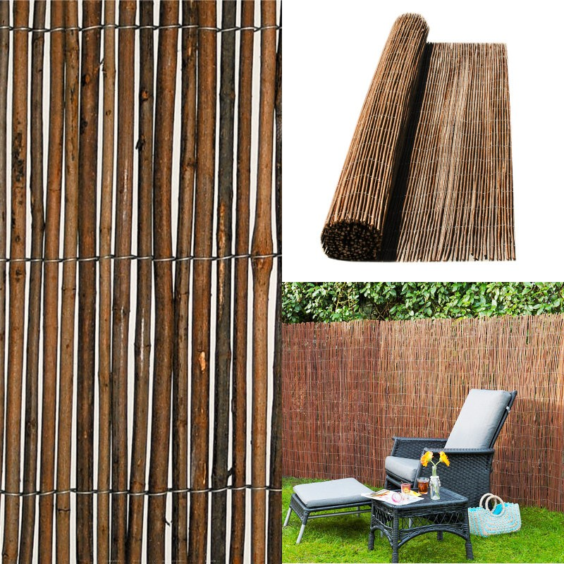 Willow Natural Garden Fence Privacy Screening 4m long