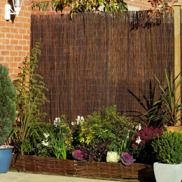 Premium Air Dried Willow Natural Wood Fence Privacy Screening 1.8m x 1.8m