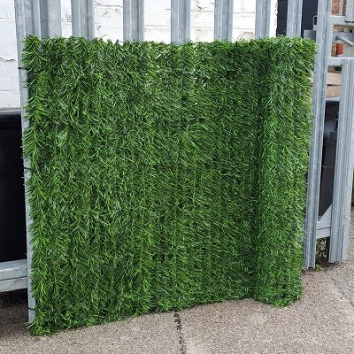 Artificial Faux Conifer Hedge, Garden Fence Privacy Screening by True Products - Roll