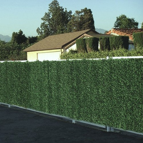 Artificial Faux Conifer Hedge, Garden Fence Privacy Screening by True Products - 3m Long