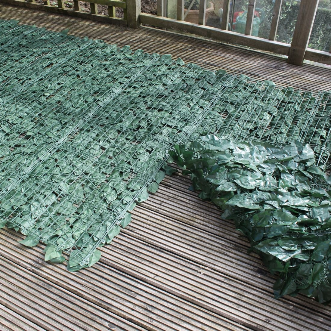 Artificial Ivy Leaf Hedge Panels on A Roll | Privacy Screening By ...