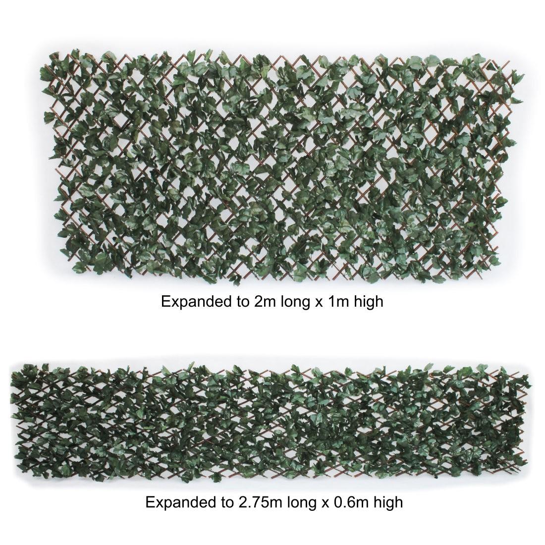 Artificial maple leaf ivy on expanding willow trellis 1m for Schreibtisch 2m x 1m