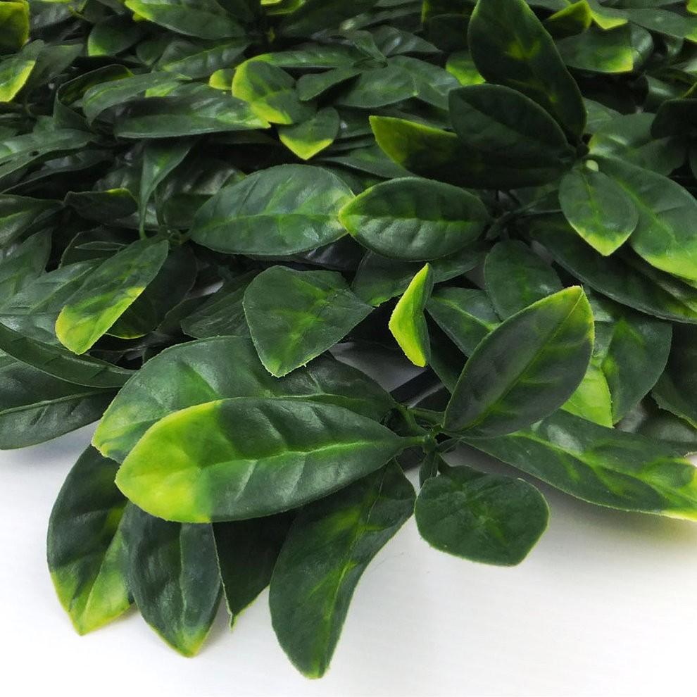 Pack Of 4 Artificial Laurel Leaf Hedge Panels 500mm X 500mm