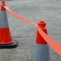 Orange Hi-Vis Traffic Cone Barrier Tape