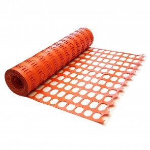 Heavy Duty Orange Plastic Barrier Mesh Fence 14kg / 280gsm
