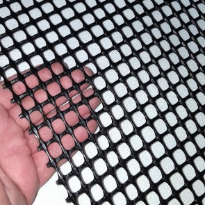 Heavy Duty Windbreak Fence - Extruded Square Mesh Black