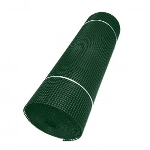 Green Heavy Duty Extruded Square Mesh Plastic Fence - 14mm
