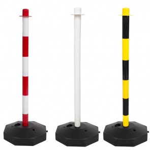 Plastic Support Posts & Base for Plastic Barrier Chain