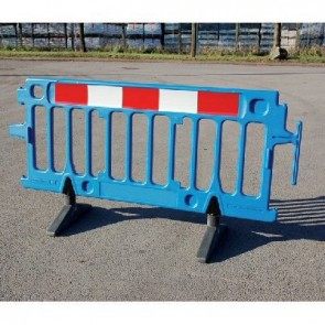 Avalon Pedestrian Utility Construction Safety Plastic Barrier Blue2m