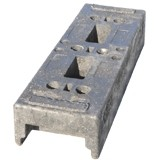 Concrete Feet for Metal Barriers