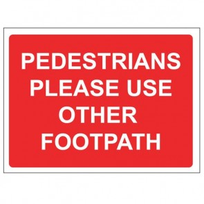 PEDESTRIANS FOOTPATH Warning Sign