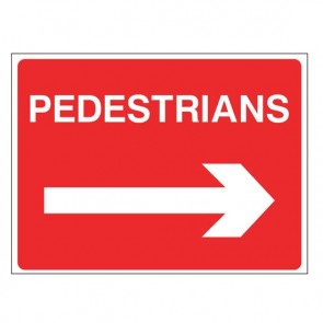 PEDESTRIANS RIGHT  Warning Sign