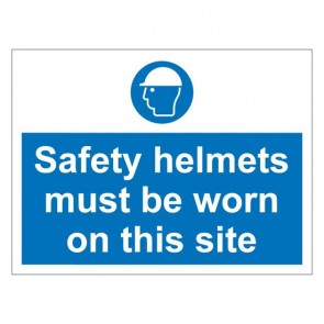 SAFETY HELMETS Warning Sign