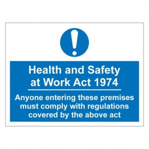HSE Warning Sign