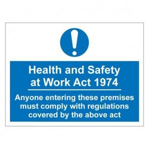 HSE Warning Sign
