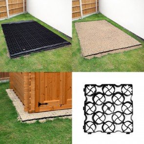 Shed Base Kit incl Weed Fabric & TruePave Grids