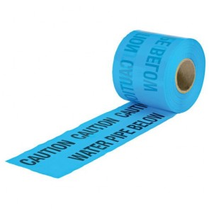 Underground Warning Tape - Water Blue