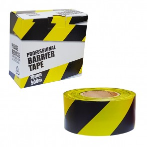 Professional Barrier Tape Black & Yellow