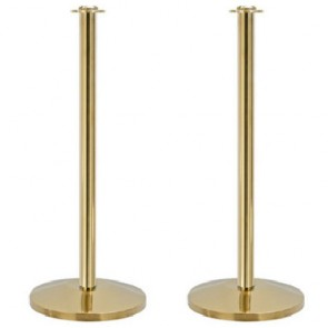 2 x True Value Posts for Rope - Polished Brass Effect