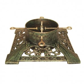 Cast Iron Victorian Brushed Gold Christmas Tree Stand