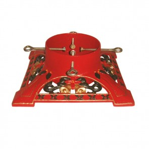 Cast Iron Victorian Decorative Red Christmas Tree Stand