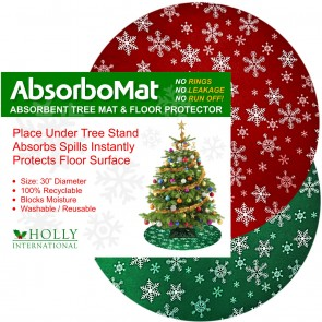 AbsorboMat Waterproof Christmas Tree Mat & Floor Protector