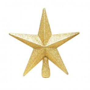 Gold Christmas Tree Topper Glitter Star